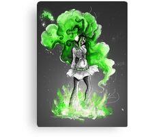 Rainbow Punk: Malachite Bassdrop Canvas Print