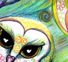 Funky Forest Pink Celtic Owl Sticker