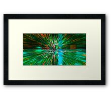 The Flight Across the Three Universes #4 - What's hiding there beyond the wormhole? Framed Print