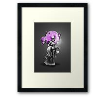 Rainbow Punk: Psychedelic Purple Framed Print