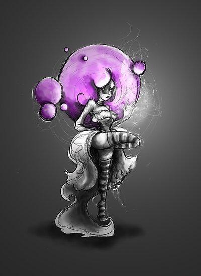 Rainbow Punk: Psychedelic Purple by Barbora  Urbankova