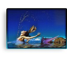 The Playful Mermaid Canvas Print