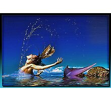 The Playful Mermaid Photographic Print