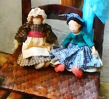 Two Colonial Rag Dolls by Susan Savad