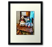 Two Colonial Rag Dolls Framed Print