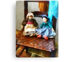 Two Colonial Rag Dolls Canvas Print