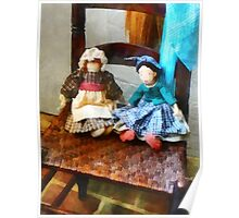 Two Colonial Rag Dolls Poster