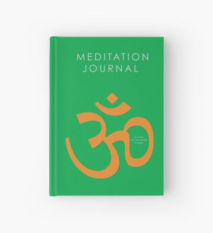 7 DAY'S OF SUMMER-YOGA ZEN RANGE-NAMASTE GREEN JOURNAL Hardcover Journal