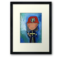 Firefighter for Kids Framed Print