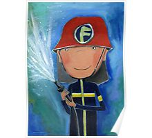 Firefighter for Kids Poster