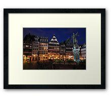 Downtown Frankfurt Framed Print