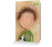 Goal Keeper Tim Greeting Card