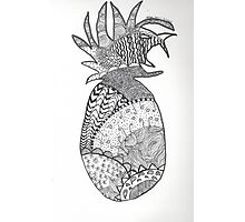 Pineapple Doodle Photographic Print