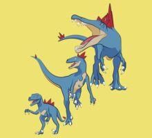 Pokesaurs - Totodilian Evolution Kids Tee
