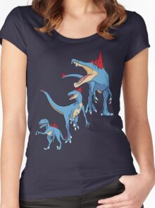 Pokesaurs - Totodilian Evolution Women's Fitted Scoop T-Shirt