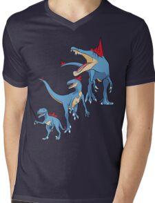 Pokesaurs - Totodilian Evolution Mens V-Neck T-Shirt