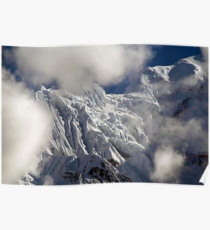Mountaintop from Upper Pisang Poster