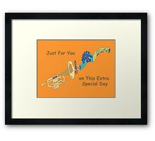 Happy Birthday - Trumpet Playing Birthday Song Framed Print