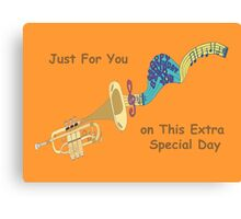 Happy Birthday - Trumpet Playing Birthday Song Canvas Print