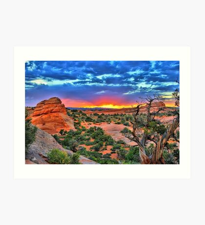 Arches National Park Sunset Art Print