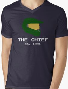 8 Bit Masterchief Mens V-Neck T-Shirt