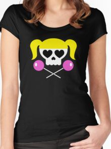 Lollipop Chainsaw She Skull Women's Fitted Scoop T-Shirt