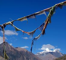 Prayer Flags in Manang by SerenaB