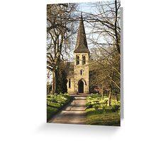 St Mary's Church, Sand Hutton Greeting Card