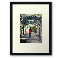Quinta da Regaleira - a pathway Framed Print