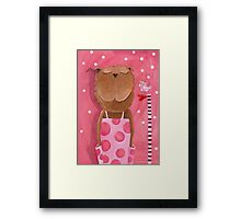 Mrs. Bear love Music Framed Print