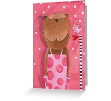 Mrs. Bear love Music Greeting Card