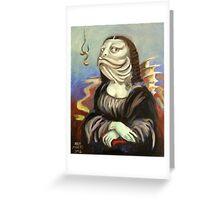 Mona Lisa (as a fish) Greeting Card