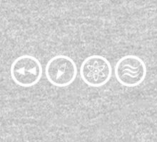 Reverse the Polarity - White One Piece - Short Sleeve