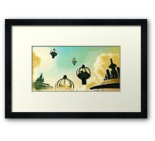 The Flight Across the Three Universes #8 - The Floating Gardens of Balresha 9 // Remembrances Framed Print