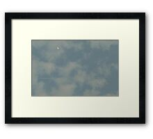 Fly Me To The Moon(or at least UNDER it) Framed Print