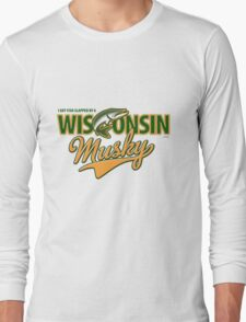 I got fish slapped by a Wisconsin Musky! Long Sleeve T-Shirt
