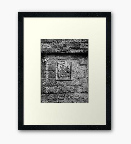Worn Church Tablet Framed Print