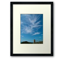 Weaving Clouds Above Signal Tower Framed Print
