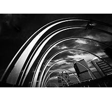 Arches and Highrise Photographic Print