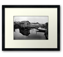 Makoko Houses on Slit Framed Print