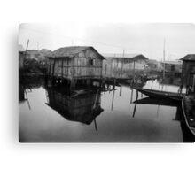 Makoko Houses on Slit Canvas Print