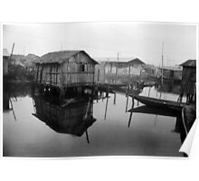 Makoko Houses on Slit Poster
