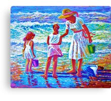 Sunday  Morning at the Beach Canvas Print