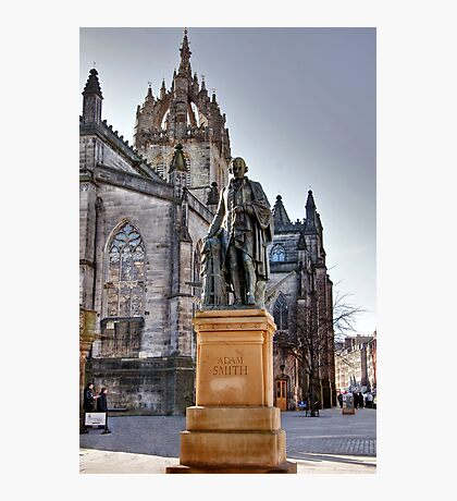 Adam Smith & St Giles Cathedral Photographic Print