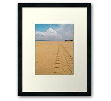 Tractor Tracks Framed Print