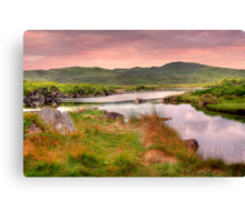 Green Hills of Ireland - The Connemara, Co. Galway, Ireland Canvas Print