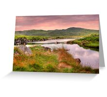 Green Hills of Ireland - The Connemara, Co. Galway, Ireland Greeting Card