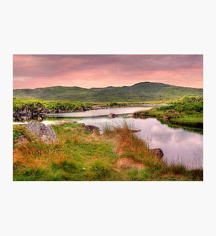 Green Hills of Ireland - The Connemara, Co. Galway, Ireland Photographic Print