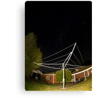 southern cross over the clothesline Canvas Print