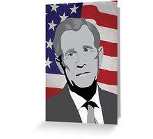 George W Bush Vector Portrait Greeting Card